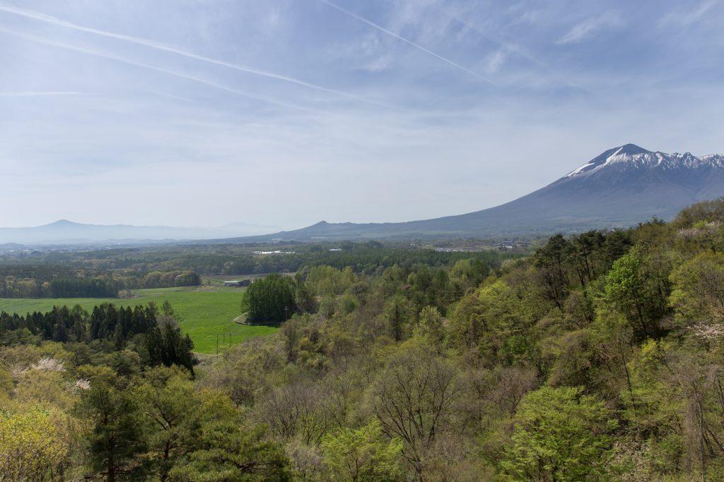 展望台からの岩手山