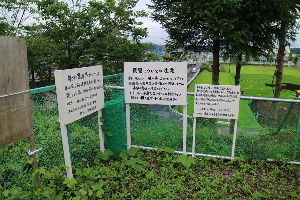 宮城 仙台 田んぼアート会場