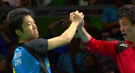 卓球 男子団体 丹羽孝希、水谷隼、吉村真晴 銀メダル