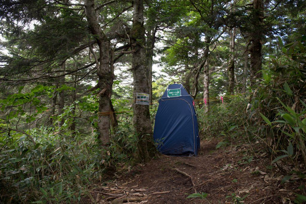 早池峰山 登山 トイレブース