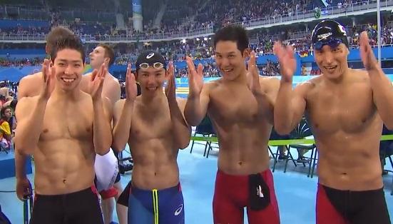 【銅メダル】 競泳 男子800メートルリレー 萩野、江原、小堀、松田