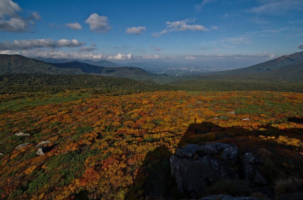 三ツ石山 登山 紅葉