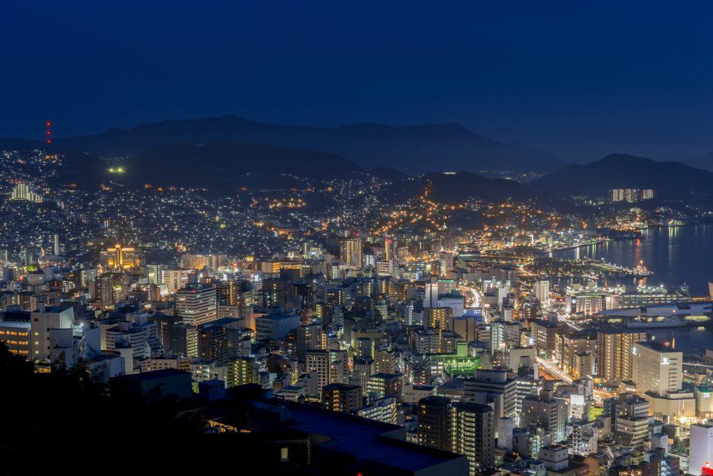 にっしょうかんからの長崎夜景
