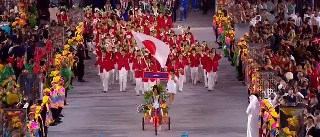 2016リオオリンピック 日本代表 開会式