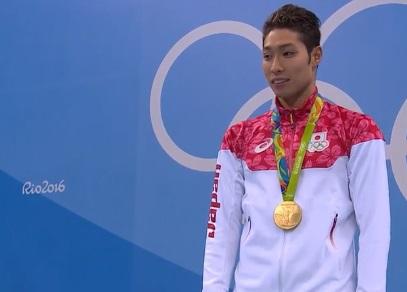 【金メダル】 男子400メートル個人メドレー 萩野公介