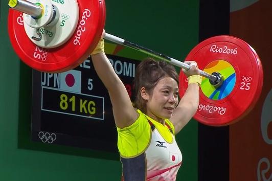 重量挙げ 重量挙げ女子48キロ級 三宅宏実 銅メダル