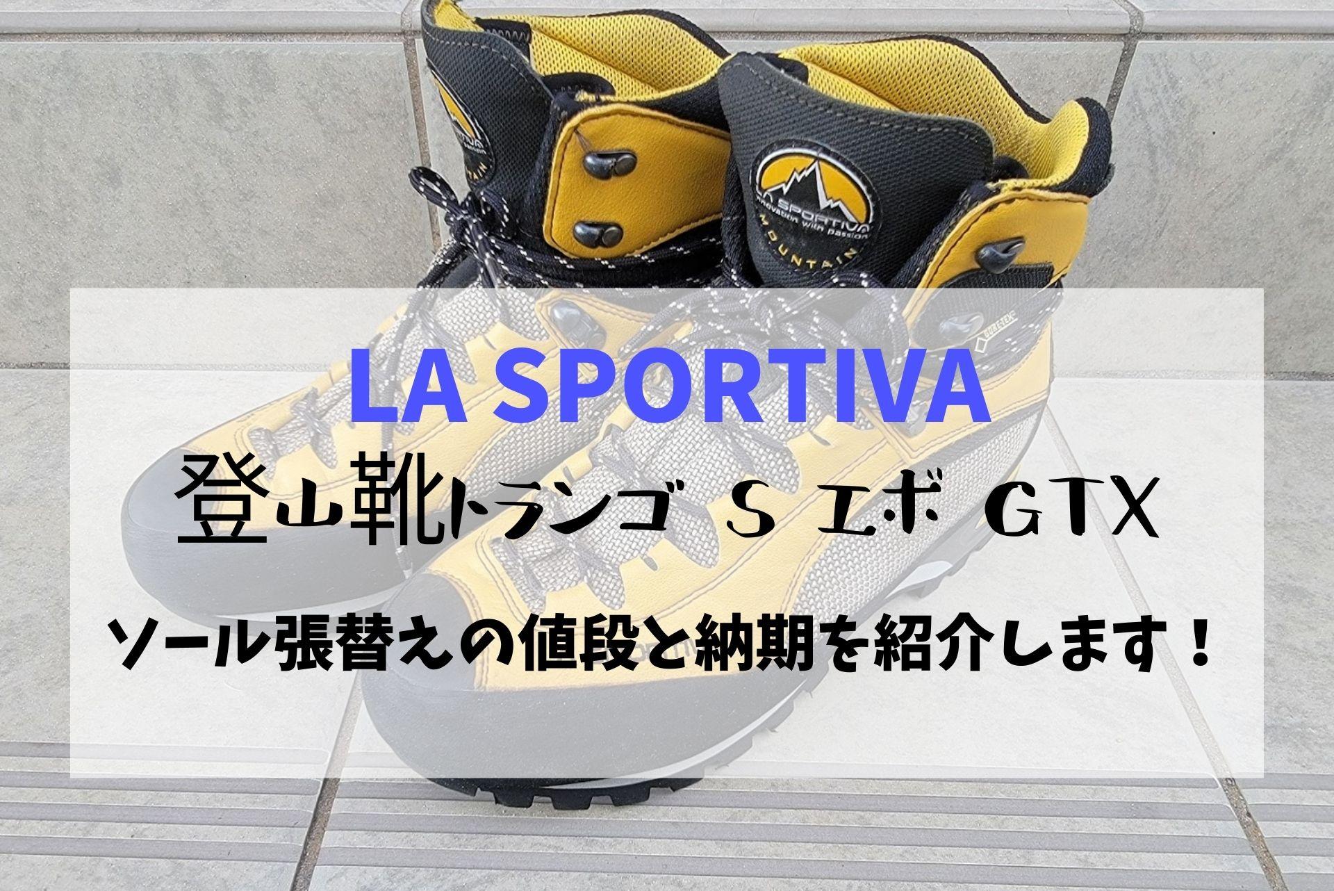 登山靴トランゴ S エボ GTXのソール張替えの値段と納期を紹介します!スポルティバ